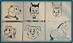 Souvenirs (MAPNANCY) Tags: dessins chat chien cheval lapin
