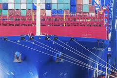 Massentransporter (tan.ja1212) Tags: schiff boot frachter containerschiff container anker hamburgerhafen hafen boat ship freighter hamburg anchor