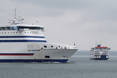 Cap Finistere & St Cecilia, Portsmouth, April 13th 2018 (Southsea_Matt) Tags: capfinistere brittanyferries ship vessel boat thesolent portsmouth hampshire england unitedkingdom canon 80d 2018 april spring passengertravel publictransport wightlink stcecilia