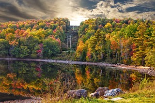 Lake Placid  - New York ~  Autumn Colours in the Adirondack Mountains - Reflection