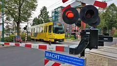 Uurtje Utrecht 6 (Peter ( phonepics only) Eijkman) Tags: utrecht uov tram transport trams tramtracks trolley rail rails railwaycrossing overweg streetcars strassenbahn nederland netherlands nederlandse holland