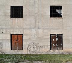 foursome (Patinagal) Tags: windows portals concrete facade decay relic abandoned patina