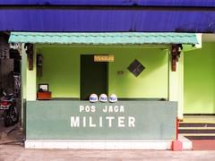 Pos Jaga Militar (davehay3) Tags: shadesofgreen green guests visitors guardpost guardhouse guard helmets post military prov army northsulawesi sulawesi indonesia manado
