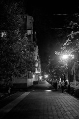 The streets of a small town in the light of street lamps (uiriidolgalev) Tags: the streets small town light street lamps
