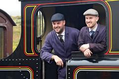 Steam train drivers at Blaenavon (Roger Wasley) Tags: alexhinshelwood daveallinson drivers steam train railways pontypoolblaenavonrailway