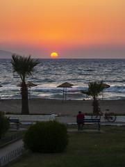 Sunset in Kuşadası (hilmi_cskn) Tags: sun sunset sky sea landspace light landspaces kuşadası olympus outdoor omd olympustürkiye olympuseuropa olympususa olympusturkiye m43 m43turkiye tree