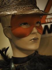 masked mannequin (Mallybee) Tags: m43 mirrorless mallybee dcg9 g9 lumix panasonic mannequin hat women female mask masked red 425mm f17 dummy