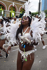 DSC_8336 Notting Hill Caribbean Carnival London Exotic Colourful Silver Costume with White Ostrich Feather Headdress Girls Dancing Showgirl Performers Aug 27 2018 Stunning Ladies (photographer695) Tags: notting hill caribbean carnival london exotic colourful costume girls dancing showgirl performers aug 27 2018 stunning ladies silver with white ostrich feather headdress