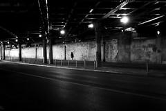 Underground (pascalcolin1) Tags: paris paris12 bercy underground femme woman souterrain tunnel chanel lumières lights ombres shadows lignes lines photoderue streetview urbanarte noiretblanc blackandwhite photopascalcolin 5omm canon50mm canon