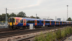 458534 (JOHN BRACE) Tags: 1999 alstom built juniper 8gat class 460 emu rebuilt 2013 doncaster now 458 5jop 458534 made up ex gatwick express cars 67914 67918 74414 74444 74454 seen clapham junction south western railway branded west trains livery