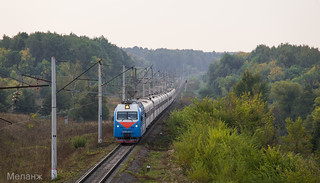 ЭП1М-547, перегон Узуново-Серебряные-Пруды, Московская область