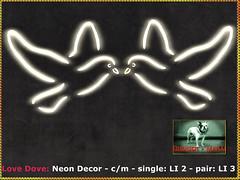 Bliensen - Love Dove - Neon Decor (Plurabelle Laszlo of Bliensen + MaiTai) Tags: wedding marriage celebration bridal decor homedecor neon neonsign dove pidgeon peace