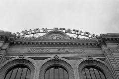 Denver Union Station (edwardcgonzales) Tags: olympus pointshoot ps stylus olympusstylus olympusstylusinfinity infinitystylus kodak kodaktrix trix400 trix blackandwhite bnw bwfilm bw xtol