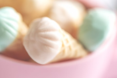 232/365: I scream, you scream, we all scream for ice cream... (judi may) Tags: 365the2018edition 3652018 day232365 20aug18 macro macromonday multicoloured sweeties sweets candies icecreamcones miniatures pastel pastelcolours pink depthoffield dof bokeh blur canon5d soft softness