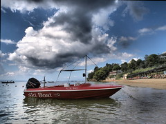ski boat (jeff.dugmore) Tags: greece skiathos troullos greekislands sporades europe aegean ocean coast seaside shore sea water beach sand sunset sky landscape seascape travel boats rocks serene outdoors outside olympus nisi scenic bay tranquil reflection red clouds blue trees holiday vacation