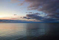 Cloud contrast (Pwern2) Tags: sunrise pink white blue navyblue grey lakeontario greatlakes toronto ontario the6 to scarboroughbluffs scarborough rougeriver highlandcreek water freshwater darkclouds canada nature landscape canadian