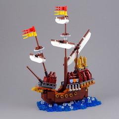 Durmstrang Ship (Swan Dutchman) Tags: lego harrypotter microscalemagic durmstrang ship gobletoffire viktorkrum