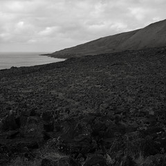 Along the North Coast, Easter Island (austin granger) Tags: easterisland rapanui island volcanic landscape geology windswept stark bleak coastline isolated film square gf670
