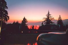 4:12 (Louis Dazy) Tags: 35mm analog film double exposure sunset sunrise trees bc car reflexion