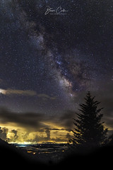 From The Darkness at Devil's Courthouse (NYRBlue94) Tags: night stars evening mountain overlook blue ridge parkway north carolina glow