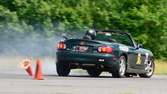 Wipe-out! (R.A. Killmer) Tags: spin wipeout slide cone cones autocross central pa scca competition driver drive race racer racing mazda miata nikon d750