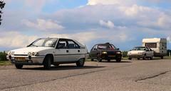 Citroën BX 19 GTi / 14 TE Custom / 19 TRI + Kip (Skylark92) Tags: nederland netherlands holland gelderland meteren de mark a15 rustplaats citroën bx 19 gti rk55nv 1987 14 te custom xx98lv 1990 tri u9 xr10rd 1989 onk origineel nederlands kenteken kip campine k370 0274wp 1980 kesteren lede oudewaard grass window bxclub kampeerweekend