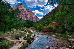 Meanwhile, Back Along The Virgin River (gr8fulted54) Tags: luminar on1photoraw nikon d7100 zion