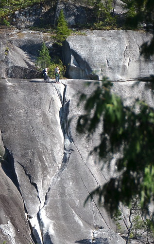 Preparing to rock climb