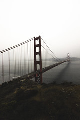 Golden Gate (Myles Ramsey) Tags: golden gate bridge sf san francisco red fog foggy landscape nature outdoors