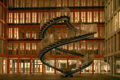endless stairscase- unendliche Treppe (ralfkai41) Tags: lichter night architektur building city gebäude lights münchen nacht architecture nightshot skulptur stairs sculpture stufen munich nachtfotografie
