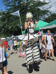 Stiltwalker (jamica1) Tags: stiltwalker kelowna farmers market okanagan bc british columbia canada