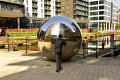 The Orb (Andrew-Jackson) Tags: leeds sculpture cityscape urban dock statue reflection