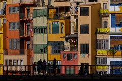Colourful views (alxfink) Tags: architecture houses river bridge girona catalonia spain lumix colourful