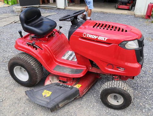 "2014 Troybilt riding mower, 42"" cut ($($896.00)"