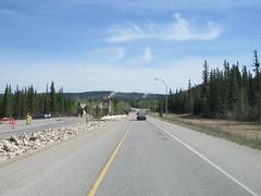 Driving past the park gate north of Jasper, Alberta on Highway 16 (jimbob_malone) Tags: 2018 highway16 alberta