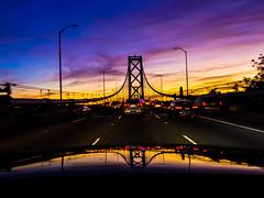 Every Time We Get Together (Thomas Hawk) Tags: america baybridge california sanfrancisco usa unitedstates unitedstatesofamerica bridge sunset us fav10 fav25 fav50 fav100