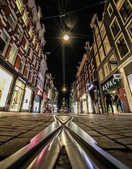 Amsterdam Leidsestraat (Michael Shoop) Tags: michaelshoop amsterdam thenetherlands holland netherlands canon7dmarkii europe tramtracks leidsestraat night candidstreetphotography candidstreet canalhouses shopping shops