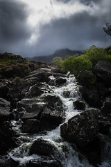 Stream from Llyn Idwal (Oscar Chidlow) Tags: wales cymru landscape britain uk nature llyn idwal park snowdonia national europe stream dark moody cloudy clouds
