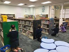 PollardLego (The Daring Librarian) Tags: catherineword batonrouge episcopal makerspace bookcase lego chalkboard