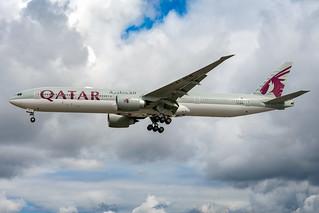 A7-BEM Qatar Airways Boeing 777-300ER London Heathrow