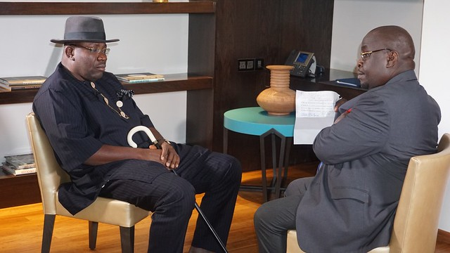 HSDickson- Channels television interview with His Excellency..