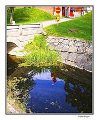 bluesky reflections (harrypwt) Tags: harrypwt borders framed reflections finland summer samsung nv10 sign hämeenlinna castle