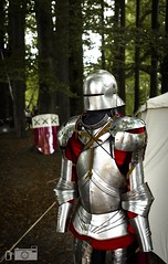 A Warriors Choice When It's About To Go Down (happad fotografie) Tags: d610 1735 nikkor nikon warrior groen green bos helm schild helmet harnas middeleeuwen ridder forest shield scenery midevil shiny suitofarmour armour knight
