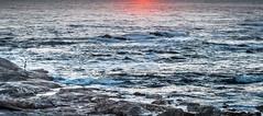 The fisherman (Ignacio Ferre) Tags: galicia españa spain paisaje landscape panorama océano océanoatlántico atlanticocean sea mar agua water sunset puestadesol pescador fisherman nikon riasbaixas cabosilleiro