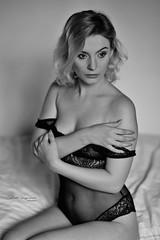 Arms (piotr_szymanek) Tags: sonia soniak blackandwhite portrait studio woman young skinny face blonde navel transparent hand bed lingerie boudoir bodysuit 1k 20f 50f 100f 5k 10k 20k
