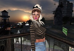 Up On The Rooftop (SherriOhCherri) Tags: mooh ison roof besom secondlifefashionblog zibska catwa maitreya