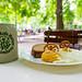 Bayrische Brotzeit im Wilde Rose Biergarten in Bamberg