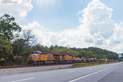 Mounted Vehicles (nrvtrains) Tags: unionpacific military 052 christiansburgdistrict covehollowrd lafayette norfolksouthern load elliston virginia unitedstates us