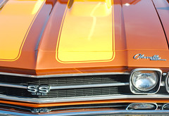 Chevelle front end detail (Light Orchard) Tags: caffeineoctane car auto automobile voiture classic antique vintage old restored ©2018lightorchard bruceschneider american chevelle chevrolet chevy ss 396