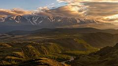На закате (vladsid1969) Tags: закат вечер солнце панорама луч небо горы природа пейзаж sunset evening sun panorama ray sky mountains nature landscape северочуйскийхребет